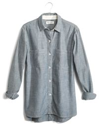 Madewell The Perfect Chambray Shirt In Wilder Wash - Lyst
