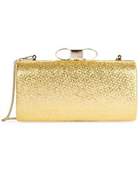 Belle By Badgley Mischka - Jolie Leather Clutch - Lyst