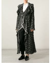 Lanvin Long Waterfall Coat - Lyst