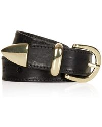 Topshop Leather Western Belt - Lyst