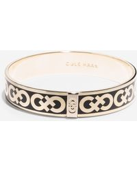 Cole Haan Enamel Logo Round Bangle gold - Lyst