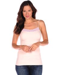 Tees by Tina   pink Lace Trimmed Cami   Lyst