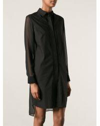 McQ by Alexander McQueen Semi Sheer Shirt Dress - Lyst