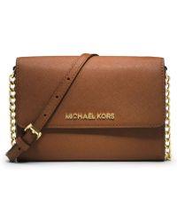 MICHAEL Michael Kors Jet Set Leather Large Travel Phone Case - Lyst