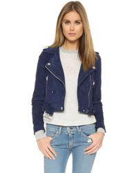 Blank - Suede Moto Jacket - Lyst
