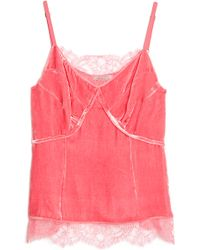 Nina Ricci Lace and Velvet Cami Top - Lyst