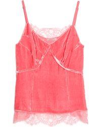 Nina Ricci | Lace and Velvet Cami Top | Lyst