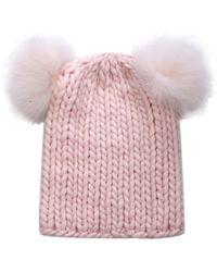 Eugenia Kim Mimi Fur and Wool Beanie Hat - Lyst