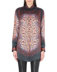 Just Cavalli Silk Tiger Print Shirt - Lyst