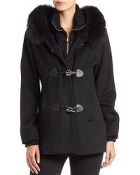 George Simonton - Saga Fox Fur-trimmed Wool-blend Jacket - Lyst