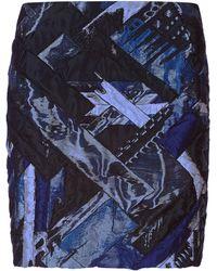 Antonio Berardi Metallic Patchwork Mini Skirt - Lyst