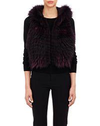 J. Mendel Raccoon Fur Vest - Lyst