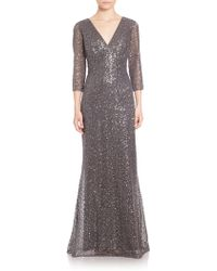 Kay Unger | Sequined Lace Gown | Lyst