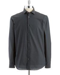 Calvin Klein Striped Buttondown Shirt - Lyst
