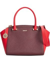 DKNY Bryant Park Saffiano Small Satchel - Lyst