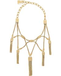 Lanvin - Tasseled Gold-tone Swarovski Crystal Necklace - Lyst