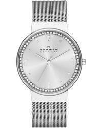 Skagen - Skw2152 Classic Silver Ladies Mesh Watch - Lyst