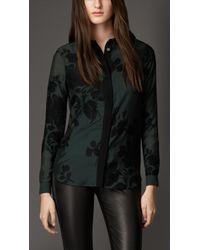 Burberry Floral Fil Coupé Shirt - Lyst