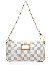 Louis Vuitton Pre-owned Damier Azur Pochette Milla Mm Bag - Lyst