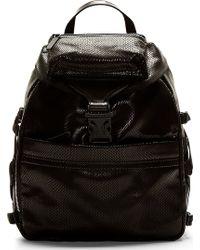 Alexander McQueen Black Snakeskin and Spine Embossed Backpack - Lyst