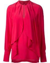 Givenchy Silk Chiffon Blouse - Lyst