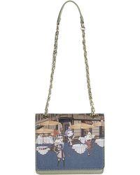 Love Moschino Charming Girls Cafã Mini Fold Over Bag - Lyst