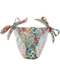 Liberty - Red Edna Print Silk Side Tie Knickers - Lyst
