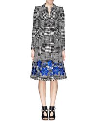 Alexander McQueen Prince Of Wales Check Jacquard Coat multicolor - Lyst