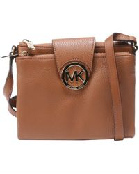 MICHAEL Michael Kors Luggage Leather 'Fulton' Shoulder Bag - Lyst