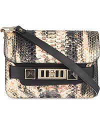 Proenza Schouler Ps11 Mini Painted Python Over The Shoulder Handbag - For Women - Lyst