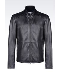 Armani | Leather Jacket | Lyst