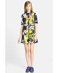 Marni Shodo Print Bonded Jersey Dress - Lyst