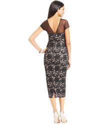 Maggy London - Capsleeve Illusion Contrastlace Dress - Lyst