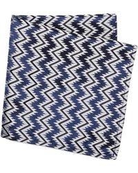 Marwood - Zigzag Pocket Square - Lyst