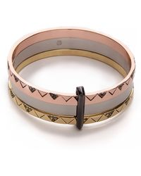 House of Harlow 1960 - Santorini Stack Bangle Set - Lyst