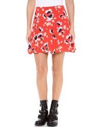Juicy Couture - Feathery Floral Skirt - Lyst