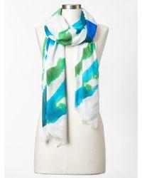 Gap Watercolor Scarf blue - Lyst