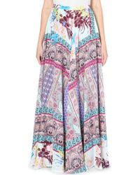 Etro Silk Printed Skirt - Lyst