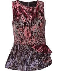 Giuliana Romanno Printed Sleeveless Blouse - Lyst