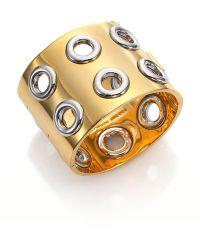 Marc By Marc Jacobs Peephole Wide Cuff Bracelet - Lyst