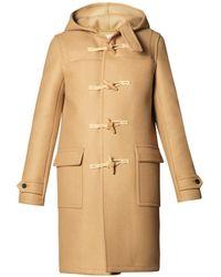Saint Laurent Hooded Duffle Coat - Lyst