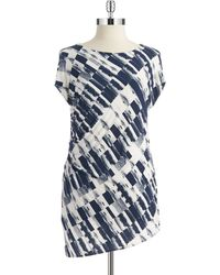 DKNY Patterned Tunic Top - Lyst