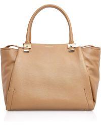 Lanvin - Tan Trilogy Leather Bag - Lyst