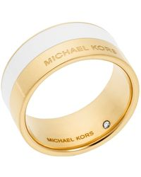Michael Kors Color Block Ring white - Lyst