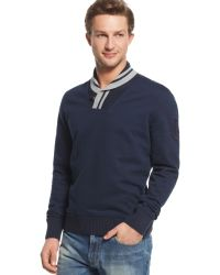Tommy Hilfiger Andrew Shawl Collar Sweater - Euro - Lyst