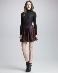 Halston Heritage Pleated Bell Skirt with Pockets - Lyst