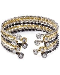 ABS By Allen Schwartz Multi-tone Bangles Set Of 7 - Lyst