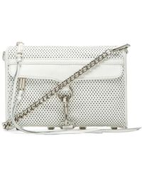 Rebecca Minkoff Mini Mac Perforated-Leather Bag - Lyst