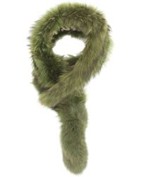 Charlotte Simone Green Popsicle Fur Scarf - Lyst