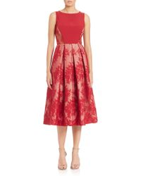 Black Halo Eliason Chantilly Lace Cocktail Dress red - Lyst